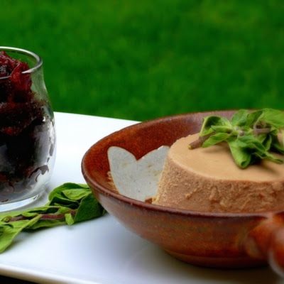 Cognac Chicken Pâté with Red Onion Jam