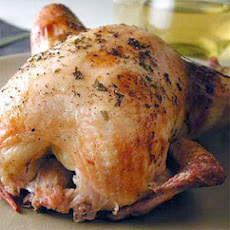 Lemon Tarragon-Brined Whole Chicken