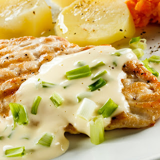 Grilled Chicken With Creamy Caesar Sauce