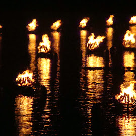 Fire on Water by Gerard Zarella - Digital Art Things ( water, reflections, waterfire, fire )