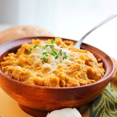 Brown Sugar & Herb Mashed Sweet Potatoes