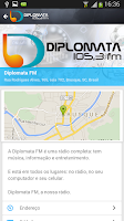 Screenshot of Rádio Diplomata FM - Brusque