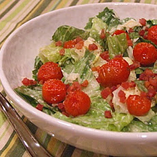 Caesar Salad with Pancetta & Roasted Tomatoes