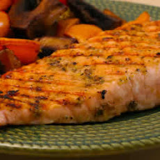 Greek Salmon Cooked in a Grill Pan
