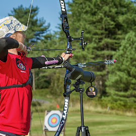 Aiming for Gold by Andrew Walch - Sports & Fitness Other Sports ( archery )