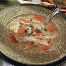 Mom's Hearty Chicken and Rice Soup
