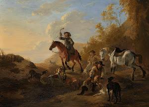 RIJKS: Dirk Stoop: Hunters Resting 1655