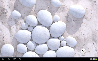 Screenshot of White Pebble Live Wallpaper