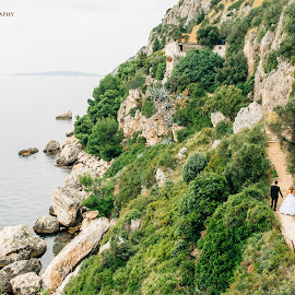 Cliffside by Antonio Miše - Wedding Bride & Groom ( ciovo, prizidnice, wedding, croatia, dalmatia, mise, photography )