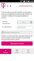 Screenshot of Prepaid Recharge