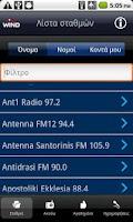 Screenshot of Wind Radios