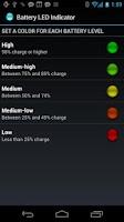 Screenshot of Battery LED Indicator