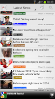 Screenshot of Freader1 - Formula Racing News