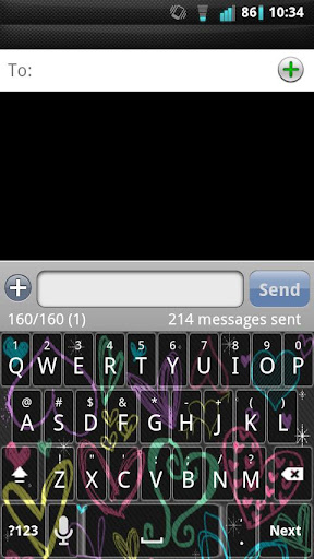 Girly Hearts Keyboard Skin