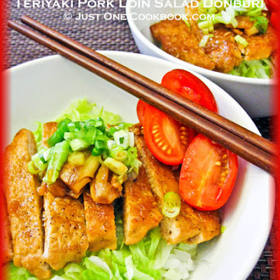 Teriyaki Pork Loin Salad Donburi