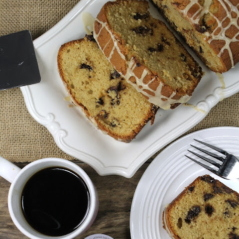Coffee Glazed Chocolate Chip Loaf