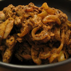 Fried Liver Curry ( Lamb, Pork or Chicken )