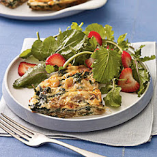 Mushroom and Spinach Frittata With Smoked Gouda
