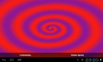 Screenshot of HypnoSpiral Live Wallpaper