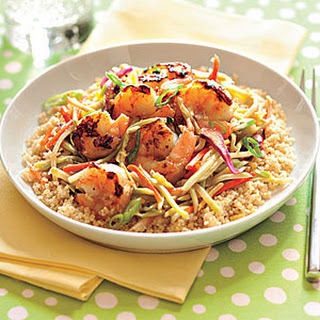 Honey-Ginger Shrimp and Slaw with Couscous