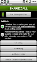 Screenshot of Shake2call Lite