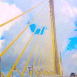 Sunshine Skyway by Patricia Fish - Buildings & Architecture Bridges & Suspended Structures