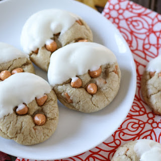 White Chocolate-Dipped Soft-Baked Butterscotch Cookies