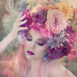 Goddess of Spring by Laura Dark - People Portraits of Women ( model, beauty, flowers, springtime, spring )