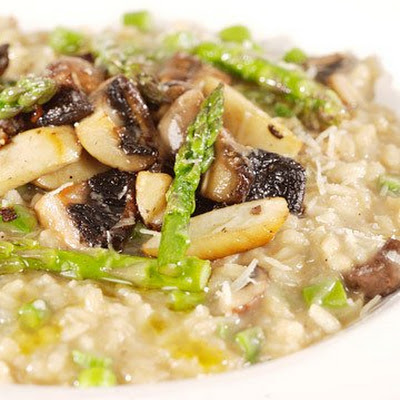 Mushroom and Asparagus Risotto