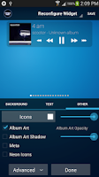 Screenshot of Poweramp Standard Widget Pack