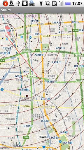同心円マップ