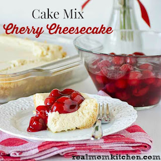 Cake Mix Cherry Cheesecake