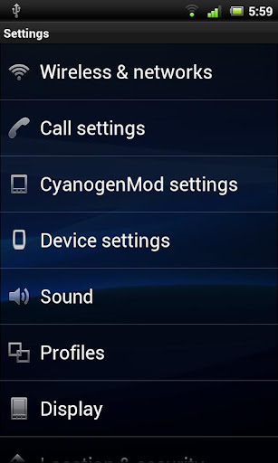 xperiaarc-cm7 for android screenshot