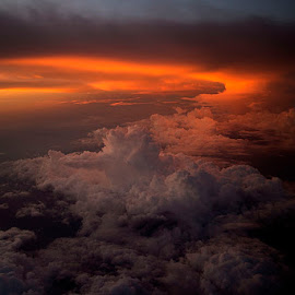 skiesberg by Yudi Saksono - Landscapes Cloud Formations ( clouds, flying, sky, fly, sunset, above, skies )