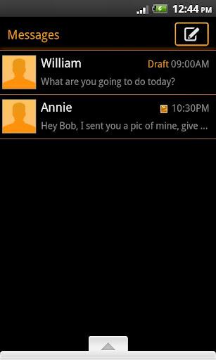【免費通訊App】GO SMS Theme Orange Neon-APP點子