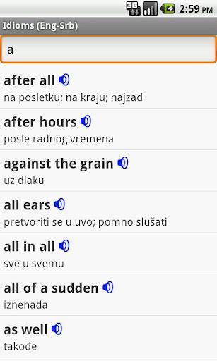 English-Serbian Idioms