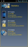 Screenshot of Phosimgo contacts backup Free