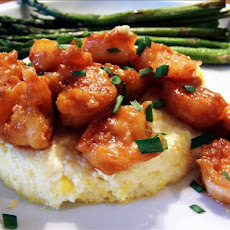 Corn Flan With Spicy Shrimp