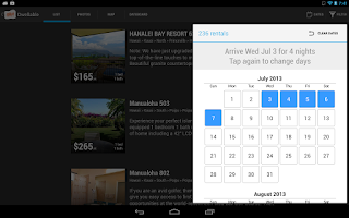 Screenshot of Dwellable Vacation Rentals