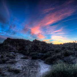 Desert Sunset! by Courtney Walker - Landscapes Deserts