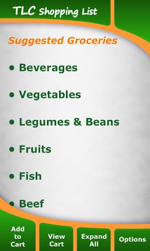 TLC Diet Shopping List
