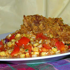 Caramelized Corn With Onions and Red Bell Peppers