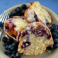 Blueberry Coffee Cake With Vanilla Glaze
