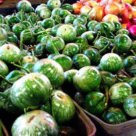 at the market by Terry Moffatt - Food & Drink Fruits & Vegetables ( market, farmers market, green, food, vegetables,  )