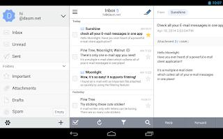 Screenshot of Daum Mail - 다음 메일
