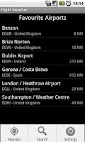 Screenshot of Flight Weather