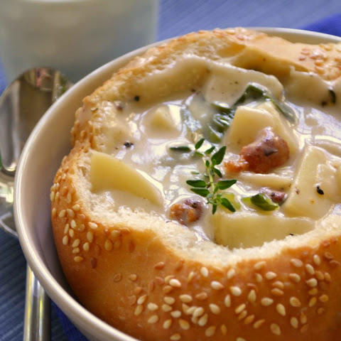Sausage Corn Potato and Cheddar Chowder