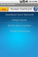 Screenshot of Free Flashcard to Learn Korean