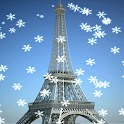 Paris Snow Live Wallpaper icon