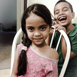 Portrait Photobomb by Glenda Welles - Babies & Children Children Candids ( children, siblings )